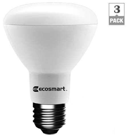 home depot ecosmart led lights ecosmart 50w equivalent daylight br20 dimmable led light