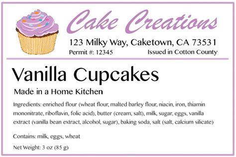 Baking Labels How To Design The Best Labels Bakecalc Baked Goods Label Templates
