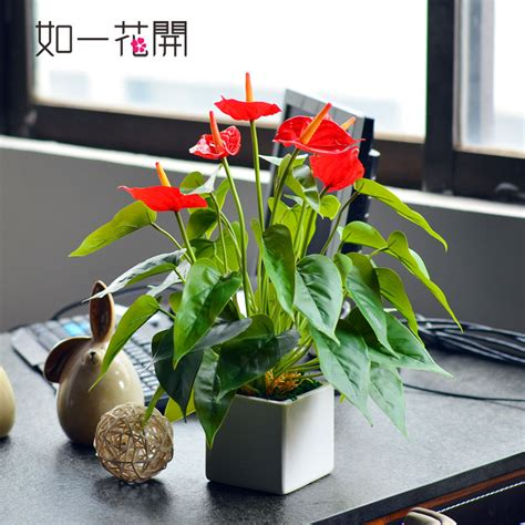Small Plants For Office Desk Mini Artificial Plants Office Desk Decorative Flower Dining Table Arts Decoration Computer Desk