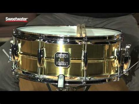 Gretsch 65x14 Gold Series Rosewood Snare Drum S1 6514 Rw Remo dcp review gretsch usa bell brass snare drum 6 5x14 doovi