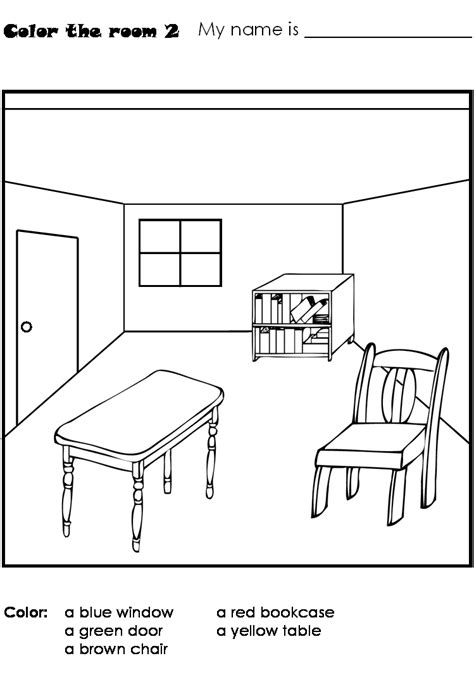coloring pages for kids classroom objects classroom color 1 print color the classroom window door