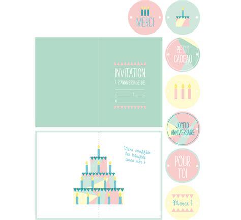 etiquettes anniversaire 224 imprimer carte invitation