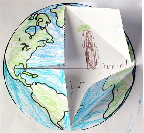 elementary crafts earth lift the flap printable template freebie primary