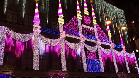 christmas light show saks fifth avenue nyc 2016 doovi
