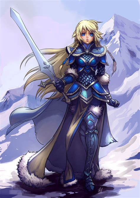 nordic knight armor nordic paladin female by felsus cool artwork