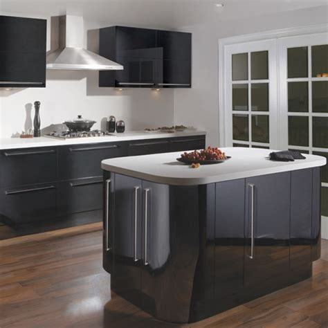 Black Gloss Kitchen Ideas Glossy Black Kitchen From Tesco Budget Kitchens 10 Of The Best Housetohome Co Uk