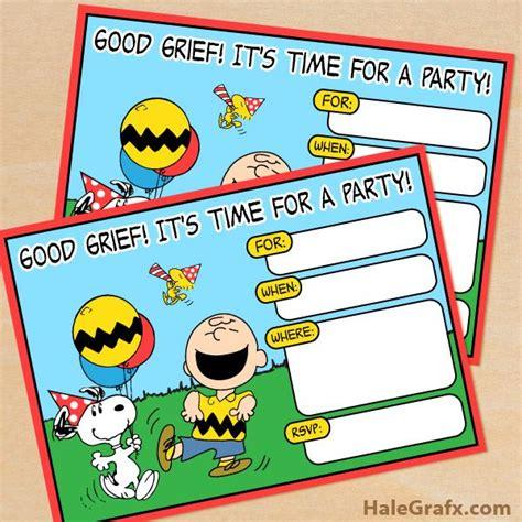 Pijama Snoopy Happy free printable peanuts birthday invitation peanuts