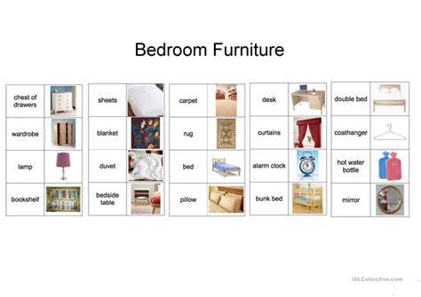 bedroom furniture vocabulary bedroom vocabulary worksheet free esl printable