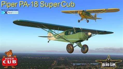 Flamingo Bomber J3 01 aircraft review piper pa 18 supercub by asdg classic aircraft reviews x plane reviews