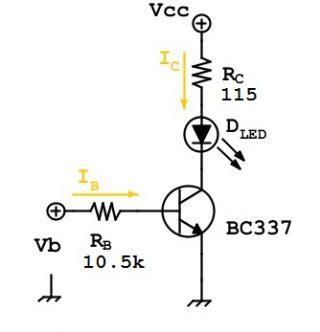 bjt transistor led il transistor bjt come interruttore laboratorio scolastico