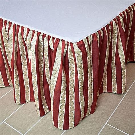 red bed skirt austin horn 174 classics mount rouge bed skirt in rustic red