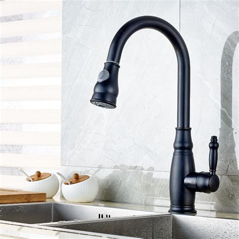 Kitchen Sink Faucets With Sprayers Burgess Kitchen Sink Faucet With Pull Sprayer And Cold Mixer Funitic