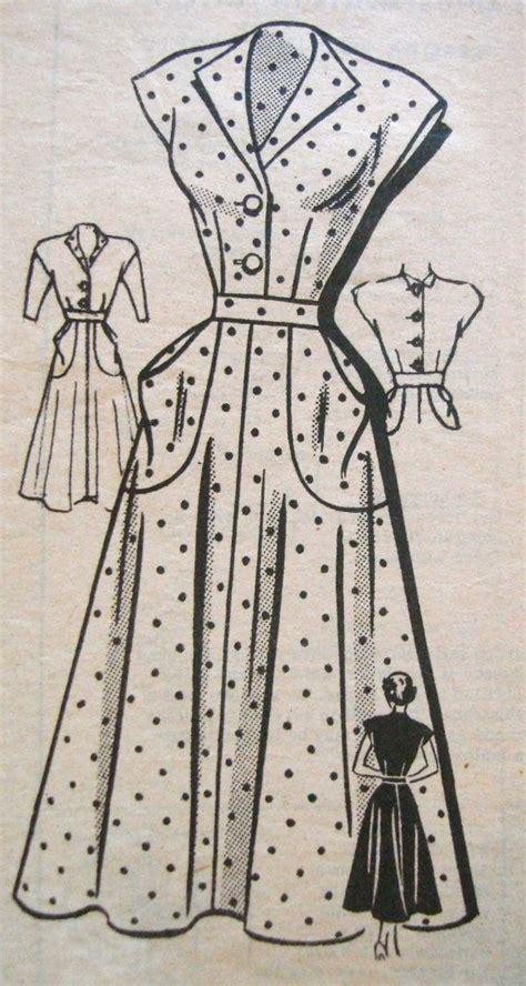 pattern for vintage tea dress 1940s tea dress sewing pattern anne adams 4759 vintage