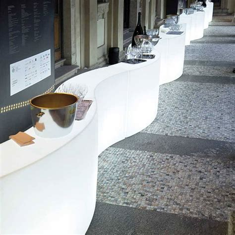 comptoir snack meuble de bar en location snack bar lumineux 166x60cm