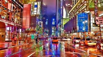 New York City Shower Curtain Times Square At Night In New York City Painting By Lanjee Chee