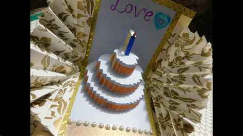 Happy Birthday Cake Pop Up Card Template by Happy Birthday Cake Pop Up Card Tutorial