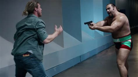 wwe countdown 2016 movie rusev packing heat in new wwe movie video
