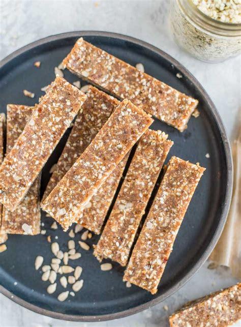 healthy vegan energy bars recipe energy bars recipe with sesame and hemp seeds