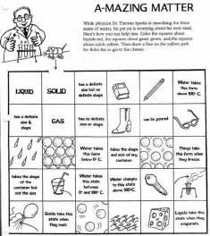 matter worksheets solid liquid gas worksheet science