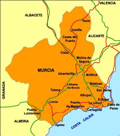 regin de murcia murcia mapa ciudad de la regi 243 n