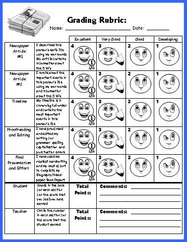 biography book report lesson plans biography book report newspaper templates worksheets