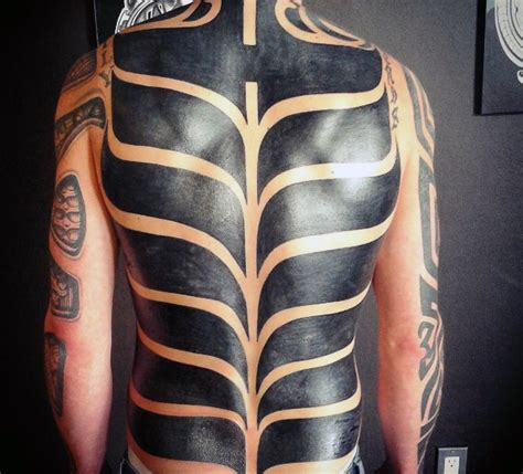 tribal back tattoos for guys 60 tribal back tattoos for bold masculine designs