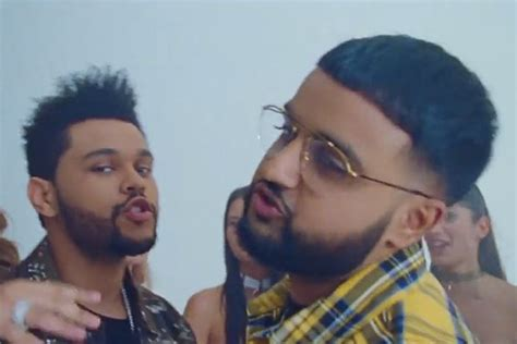 nav and the weeknd hang out with models in some way