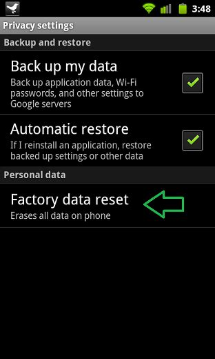 hard reset android apk image gallery reset android