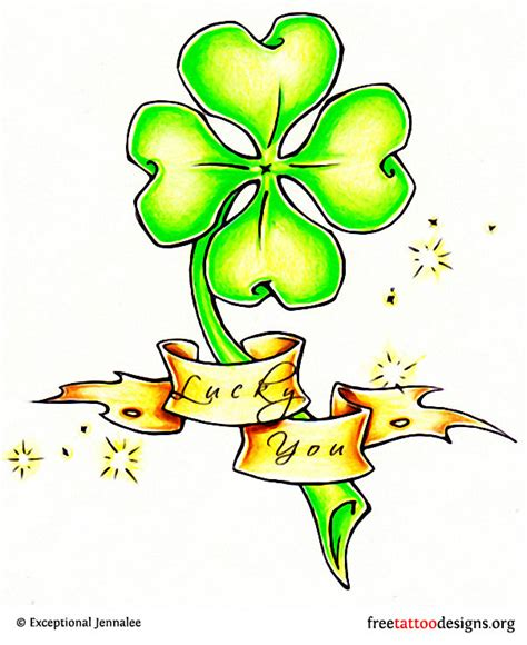 four leaf clover tattoo design 77 tattoos shamrock clover cross claddagh