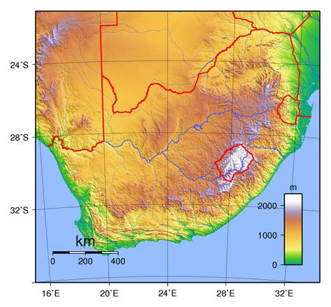south africa physical map large physical map of south africa south africa africa