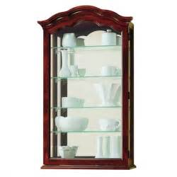 howard miller vancouver wall display curio cabinet 685100