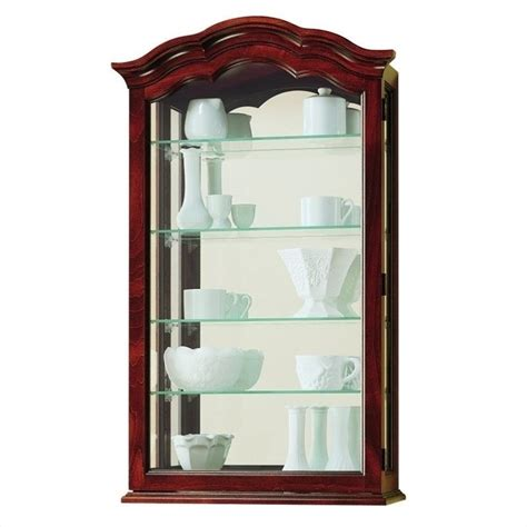 wall curio display cabinet howard miller vancouver wall display curio cabinet 685100