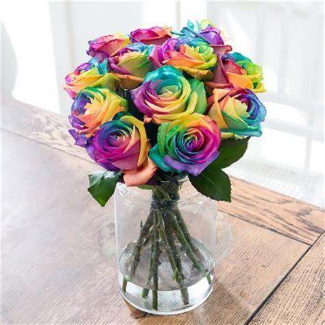 Best New Home Gifts by Rainbow Flowers Rainbow Flower Bouquets Blossoming Gifts