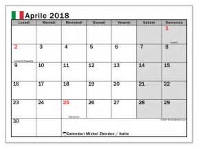 Calendario 2018 Aprile Calendario Per Stare Aprile 2018 Giorni Festivi In