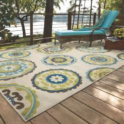 Rugs For Outdoors Bungalow Beige Green Indoor Outdoor Area Rug Reviews Wayfair