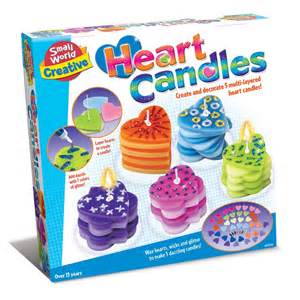 heart candles make amp decorate craft kit educational toys