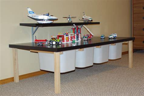 diy lego activity table with storage ikea hack