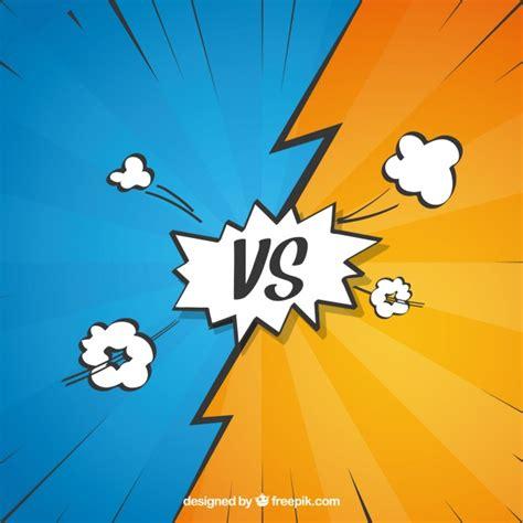 comic vs vs comic background vector free