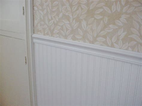 painting beadboard wallpaper a few pennies the beadboard look wallpaper