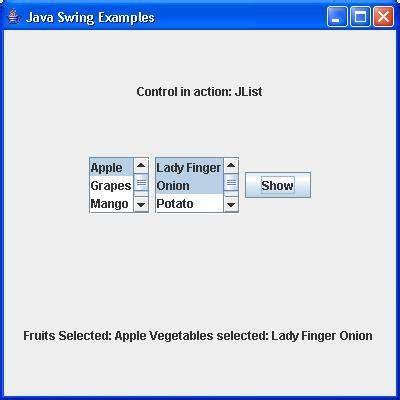 jlist swing swing jlist class