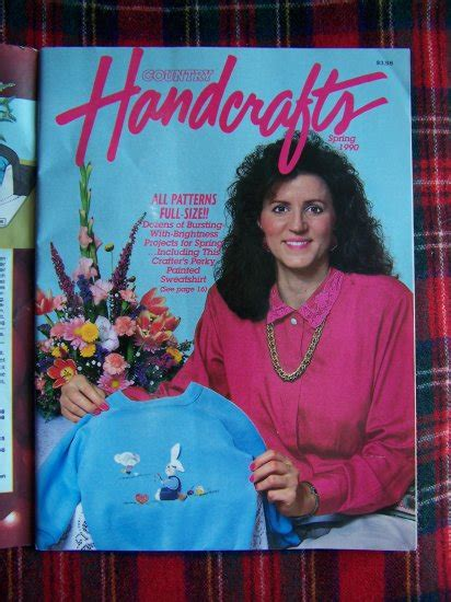 Country Handcrafts Magazine - country handcrafts pattern magazine 1990 crafts