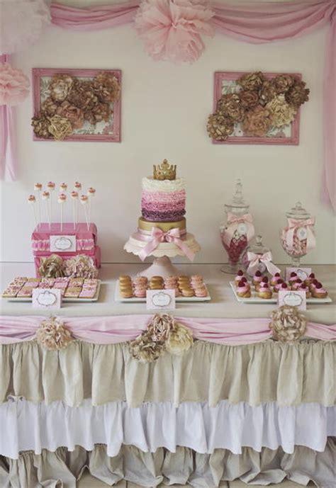 insane shabby chic princess dessert table princess desserttable shabbychic o we know how