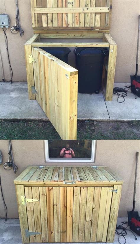 garbage  shed ideas   pinterest