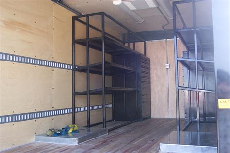 Custom Racking by Breathing Air Custom Shelving Delivery Box Truck