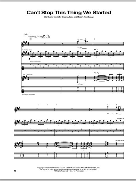 we can t be beaten guitar tab by rose tattoo guitar tab can t stop this thing we started by bryan adams guitar