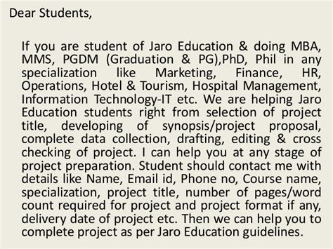 Which Mba Specialization Is Best For Me by Mba Project Report Of Jaro Education