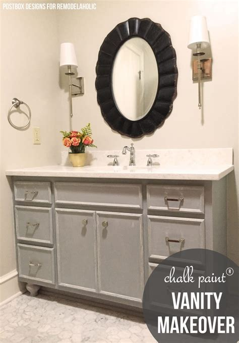chalk paint toronto remodelaholic chalk paint 174 bathroom vanity makeover