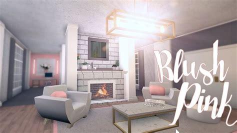 bloxburg blush pink room  small living room