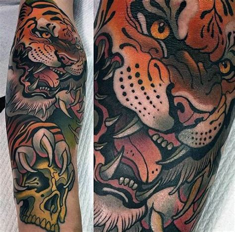 traditional tiger head tattoo 100 neo traditional designs for refined ink ideas