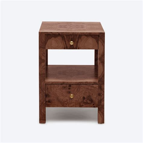 small bedside tables small turner burlwood bedside table mecox gardens